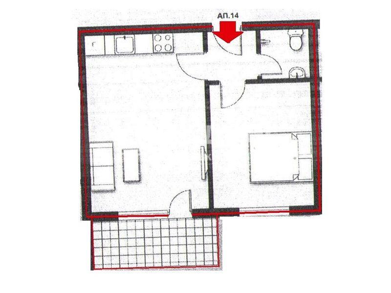 двустаен апартамент благоевград y5y3l76n