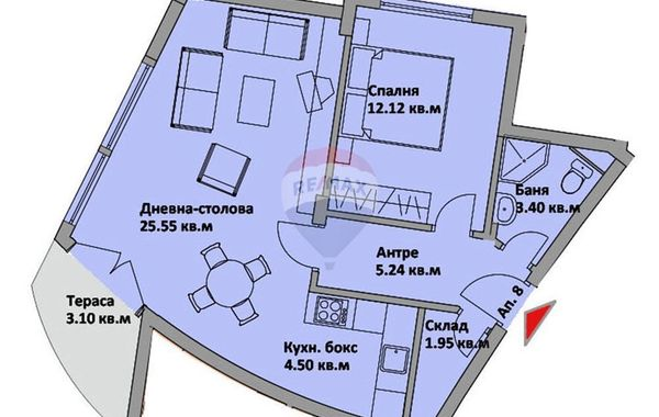 двустаен апартамент варна hedw1uhs