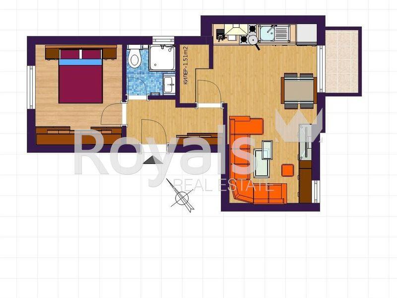 двустаен апартамент варна rnspky3d