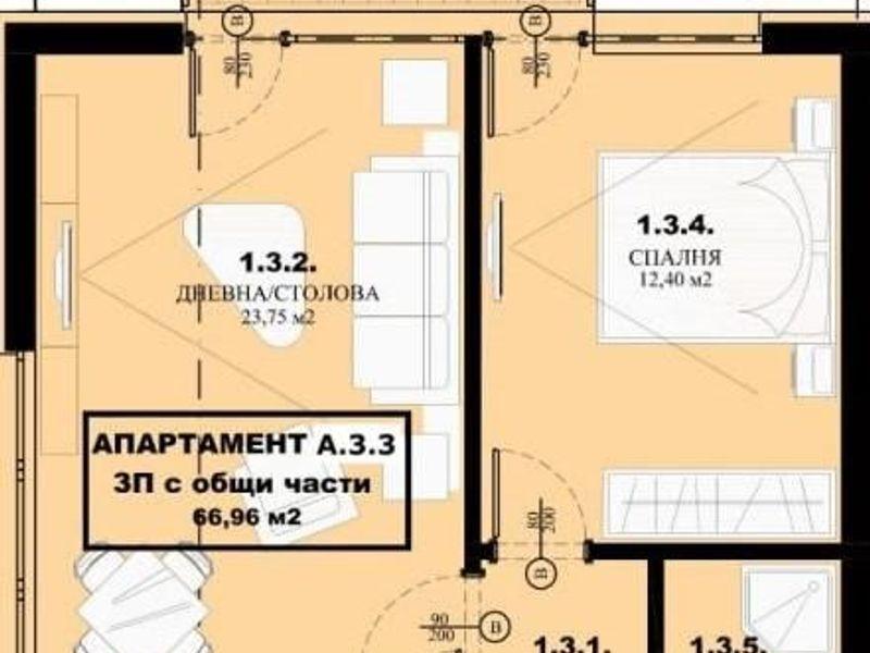 двустаен апартамент елин пелин s7shr3u1