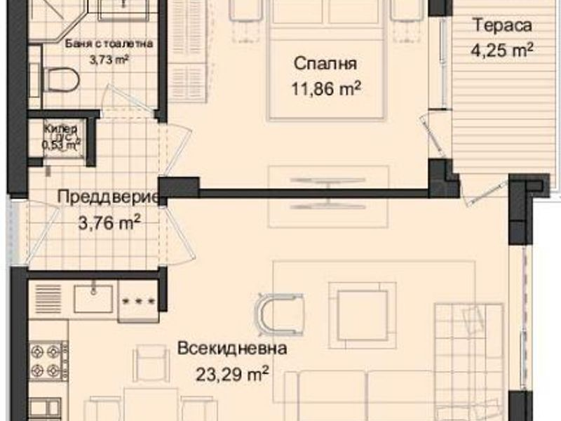 двустаен апартамент пловдив en4u48kg
