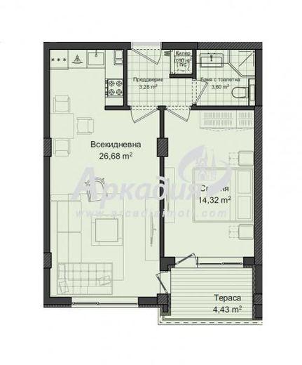 двустаен апартамент пловдив t9ng5c37