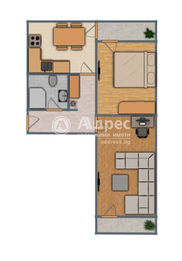 двустаен апартамент русе kp7nh121
