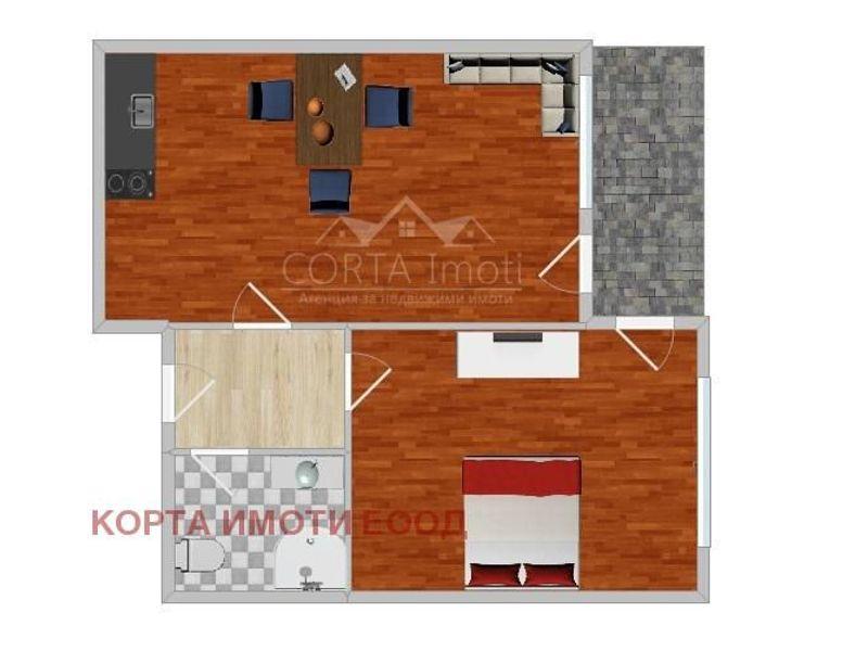 двустаен апартамент софия 1j95cs1j