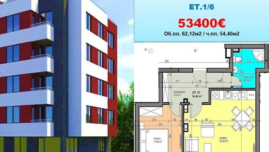 двустаен апартамент софия 2kx2nglh