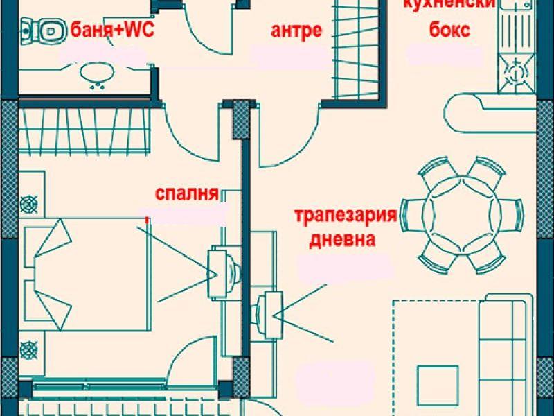 двустаен апартамент софия 362vj7t3