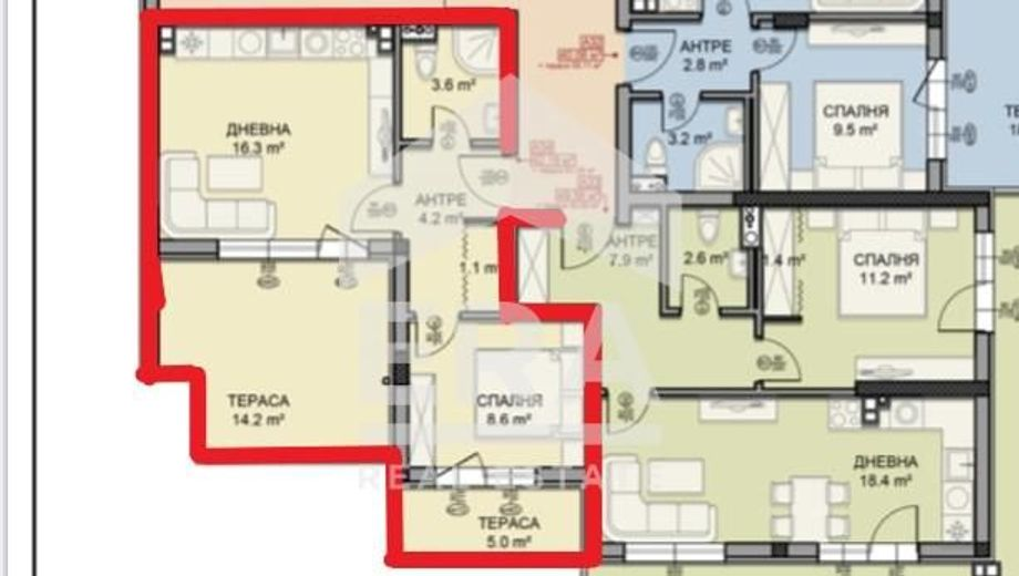 двустаен апартамент софия 3djrmb72