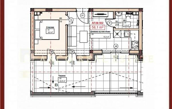 двустаен апартамент софия 3nyfm2xn
