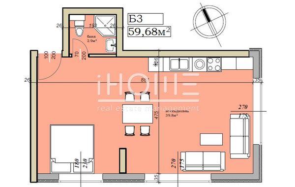 двустаен апартамент софия 41175ets