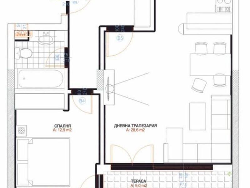 двустаен апартамент софия 476fu4sq