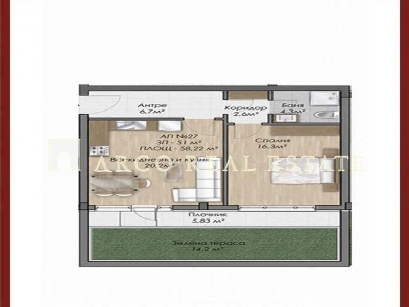 двустаен апартамент софия 4cef5he2