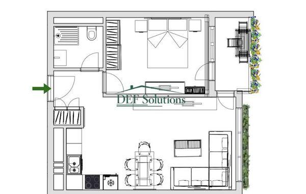 двустаен апартамент софия 4q54vfat