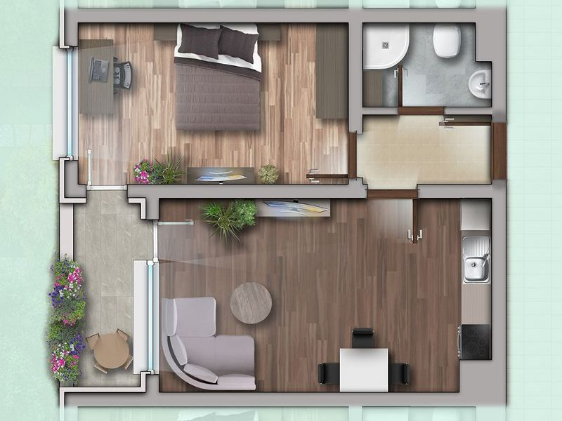 двустаен апартамент софия 4vl92e2t