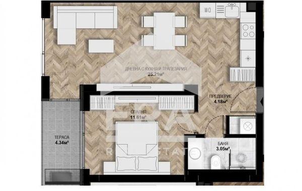 двустаен апартамент софия 57e1p2vp