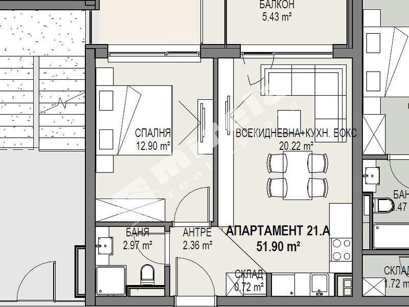 двустаен апартамент софия 5bqmgr27