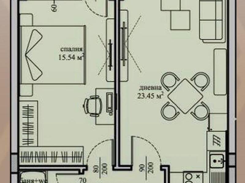 двустаен апартамент софия 5fd96nw4