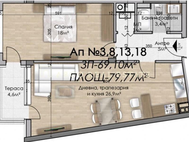 двустаен апартамент софия 5r961ykt