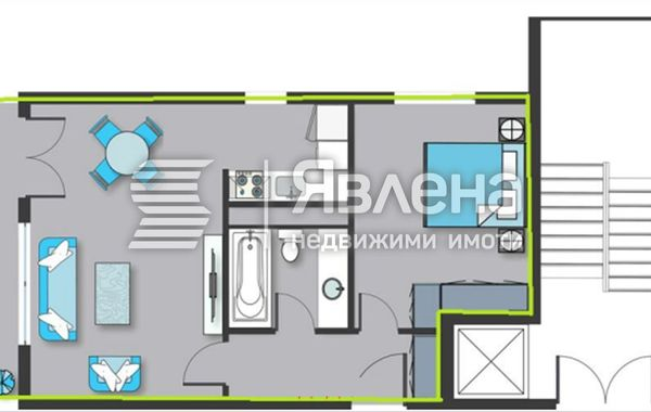 двустаен апартамент софия 64b1am2m