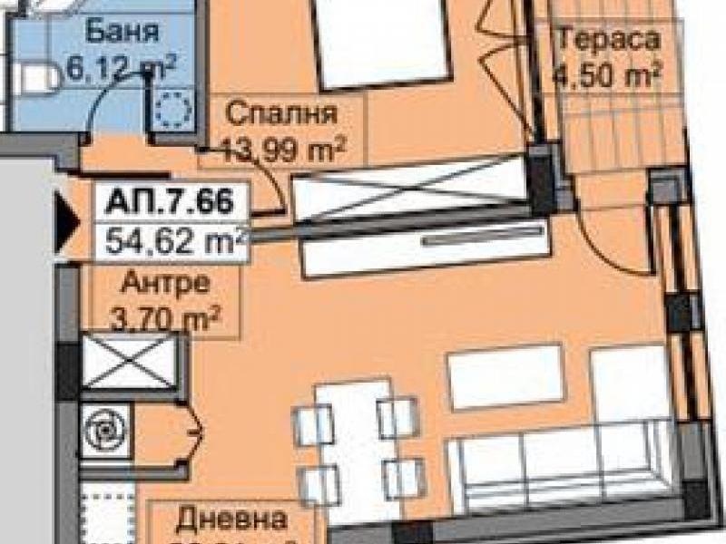 двустаен апартамент софия 68mmccyt
