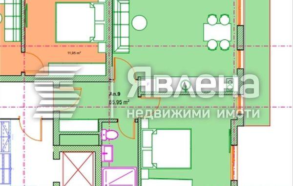двустаен апартамент софия 6f3cl2h2