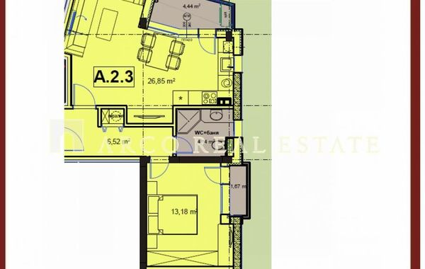 двустаен апартамент софия 712fwc7d