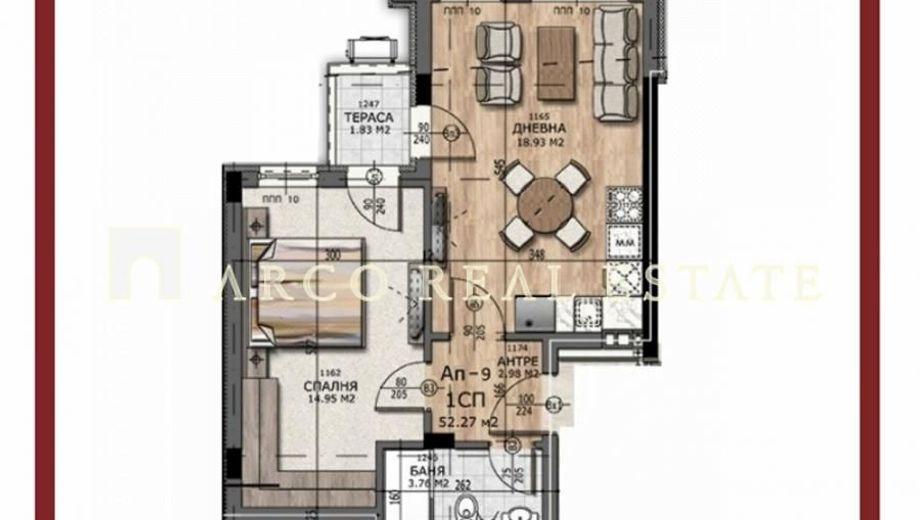 двустаен апартамент софия 72ndu8c1