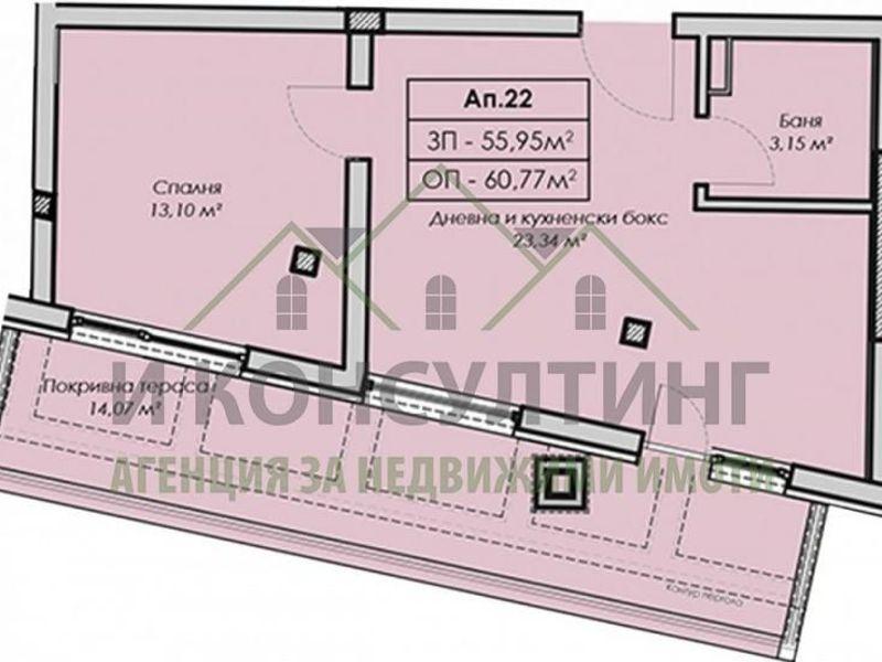 двустаен апартамент софия 7aaft2t2