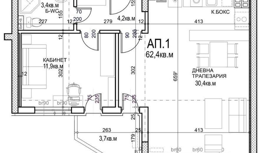 двустаен апартамент софия 7pmsyu4c