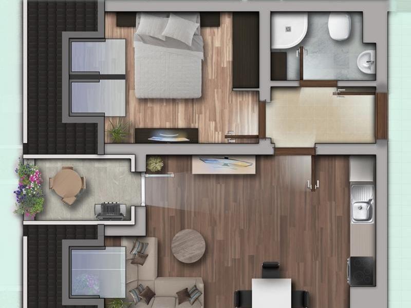двустаен апартамент софия a77gvy4e