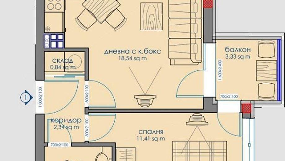 двустаен апартамент софия awpv9fkl