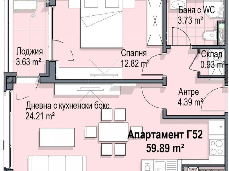 двустаен апартамент софия bl5thsqg