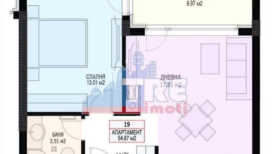 двустаен апартамент софия c6t77x6g