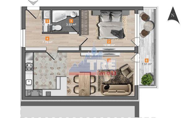 двустаен апартамент софия cacsmkja