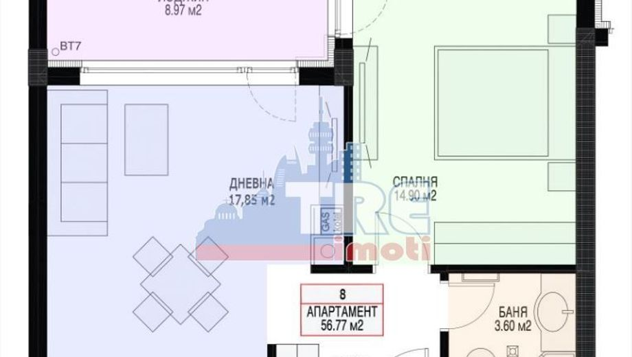 двустаен апартамент софия cd1lsr92