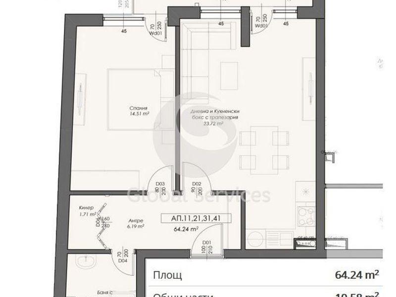 двустаен апартамент софия cwy784ju