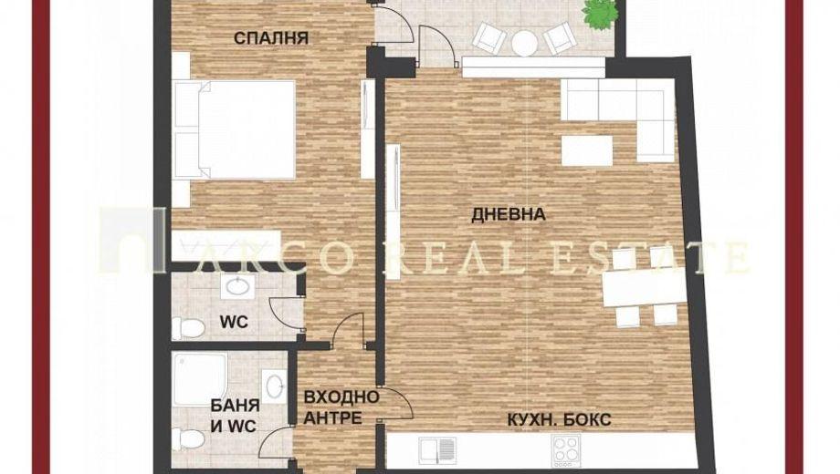 двустаен апартамент софия dqxee14p