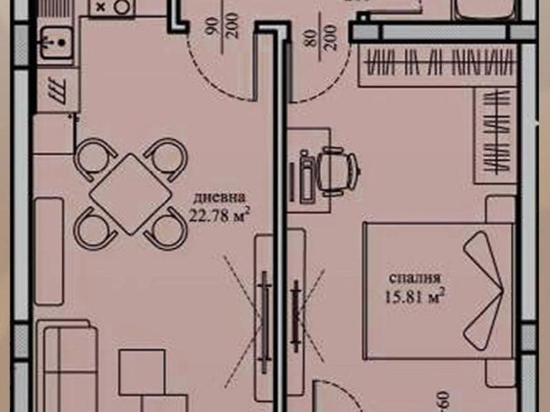 двустаен апартамент софия e66ks99w