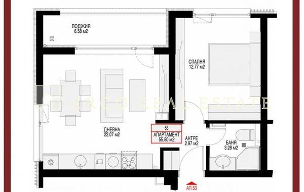 двустаен апартамент софия ea176jkk
