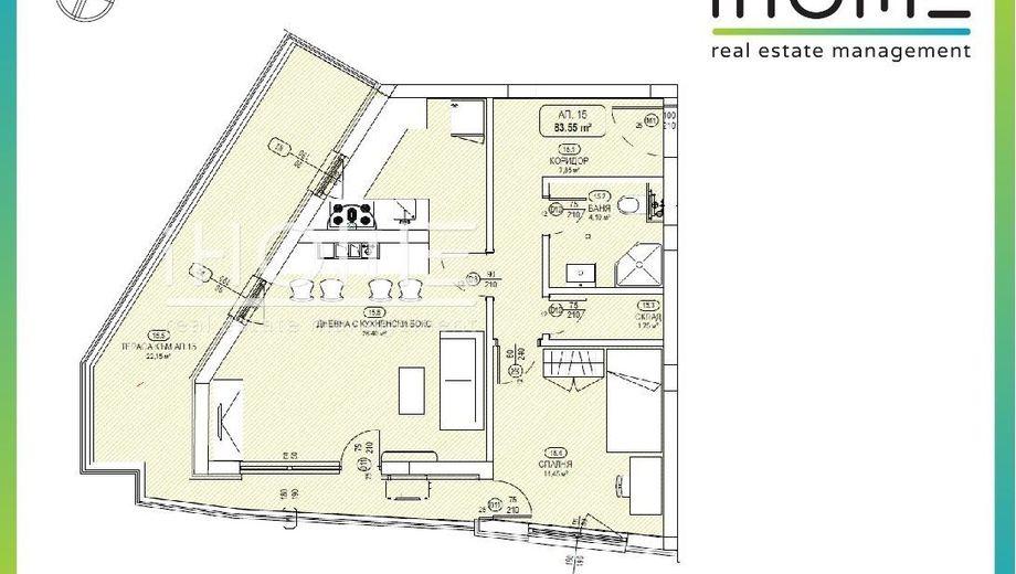 двустаен апартамент софия f4b8gv33
