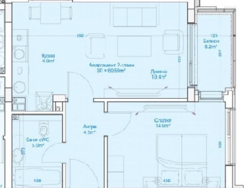 двустаен апартамент софия f4jqbc85