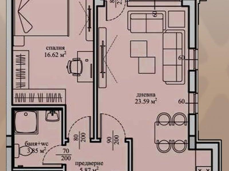 двустаен апартамент софия ffa124p3