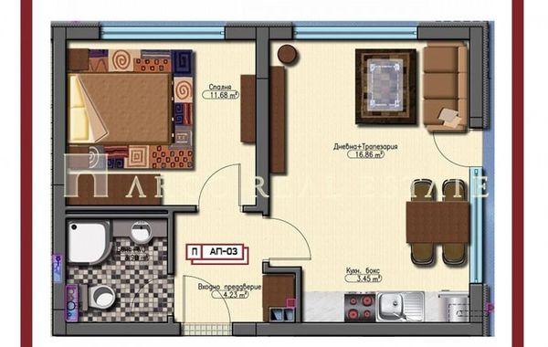 двустаен апартамент софия fj752b2v