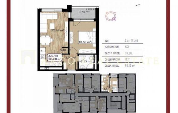 двустаен апартамент софия g51w8uxb