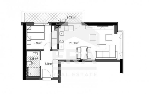 двустаен апартамент софия g58w3f21