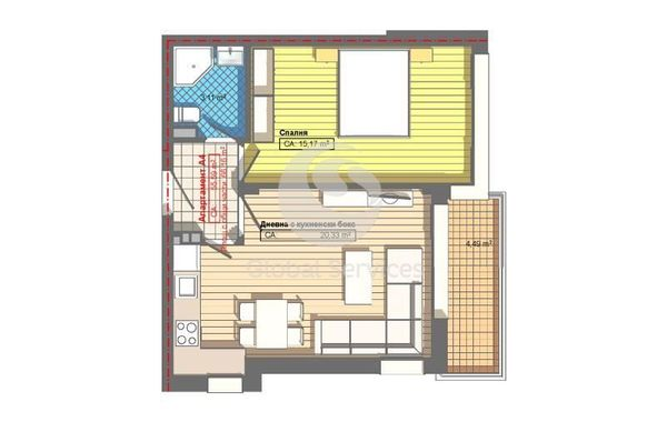двустаен апартамент софия g7jm414x