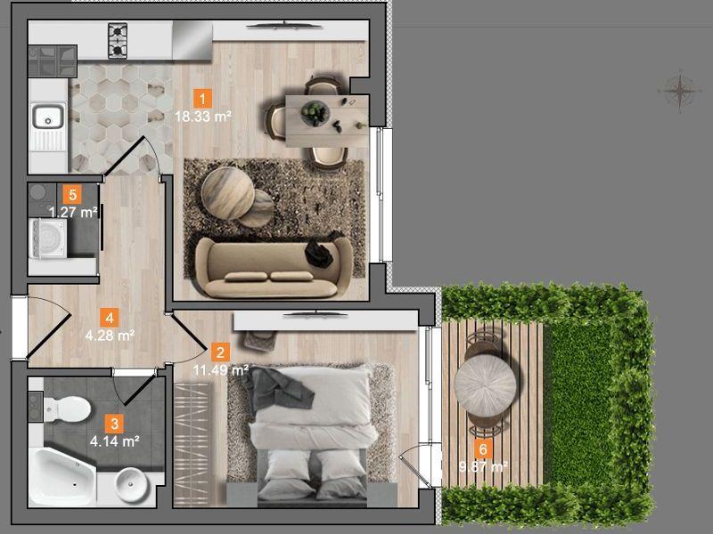 двустаен апартамент софия glqkget5
