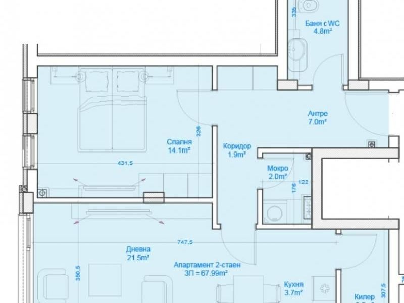 двустаен апартамент софия gs7hfxc5