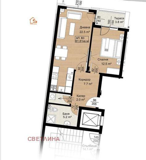 двустаен апартамент софия hcq9l9c4