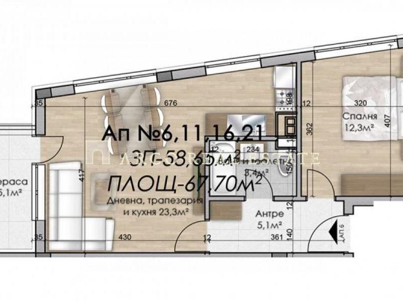 двустаен апартамент софия hec2yl8f