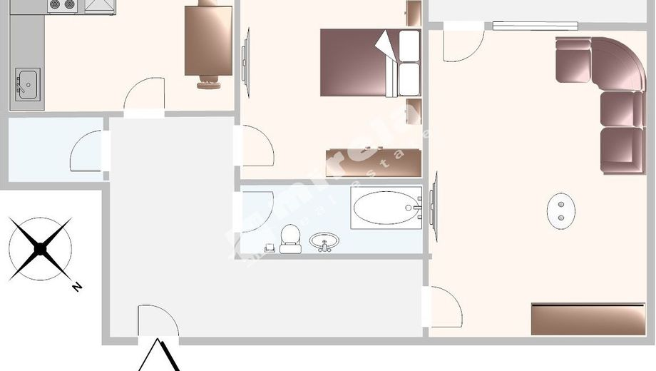 двустаен апартамент софия hl821kp4